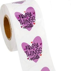 Pretty Things Inside Stickers Purple Hearts